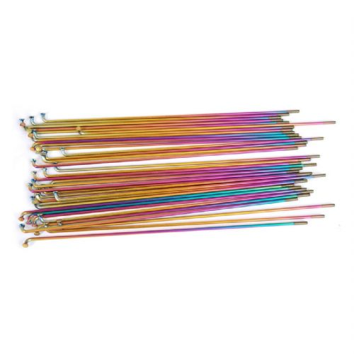 Vocal Titanium Spokes - 182mm - Rainbow